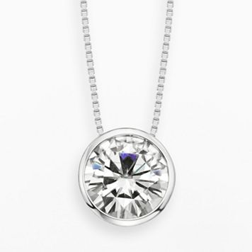 Forever Brilliant 14k White Gold 2 5/7-ct. T.W. Round-Cut Lab-Created Moissanite Pendant