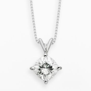 Forever Brilliant 14k White Gold 2-ct. T.W. Cushion-Cut Lab-Created Moissanite Pendant
