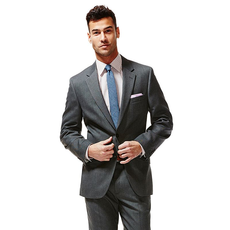 Haggar 1926 Originals Tailored-Fit Birdseye Charcoal Suit Jacket - Men