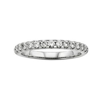 Forever Brilliant 14k White Gold 2/3-ct. T.W. Lab-Created Moissanite Ring