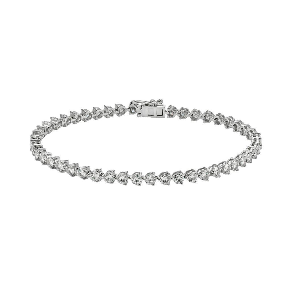 Forever Brilliant 14k White Gold 5-ct. T.W. Lab-Created Moissanite Bracelet