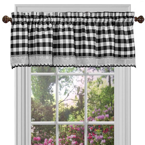 Buffalo Check Straight Window Valance 58 X 14