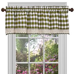 Buffalo Check Straight Window Valance - 58' x 14'