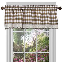 Buffalo Check Straight Window Valance - 58