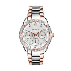 Bulova Women's Maribor Diamond Two Tone Stainless Steel Watch - 98R177