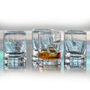 Cathy's Concepts Home State 4-pc. Double Old-Fashioned Glass Set