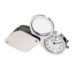 Natico Silver Travel Alarm Clock