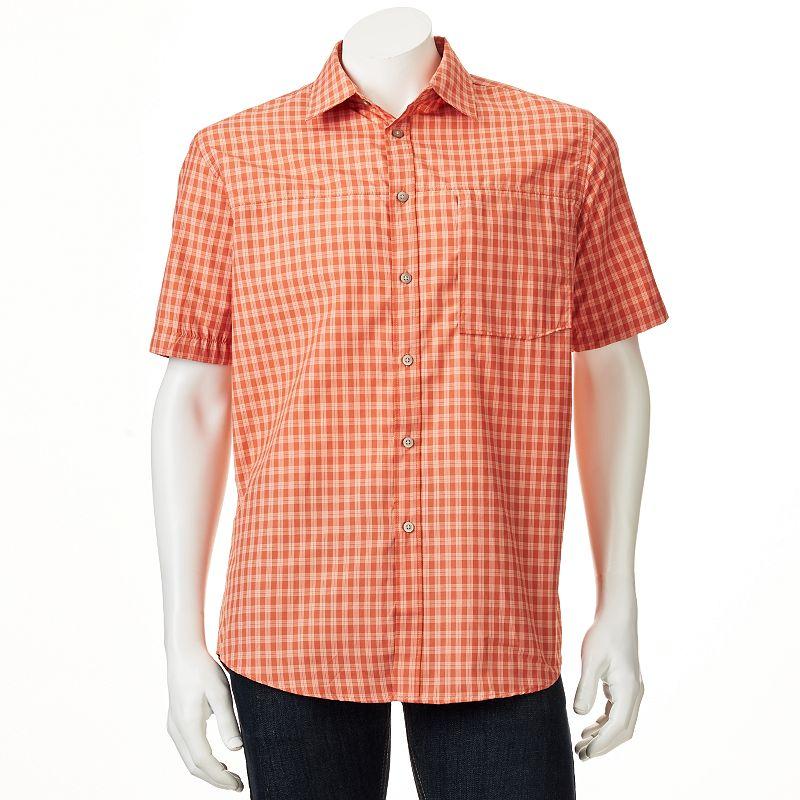 Orange plaid shirt kohl 39 s for Moisture wicking button down shirts