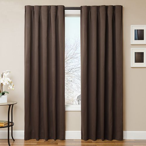 Simple Drape 4-pc. Window Panel & Curtain Rod Set
