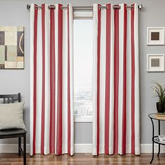 Softline 1-Panel Sunbrella Stripe Indoor Outdoor Window Panel - 52' x 84'