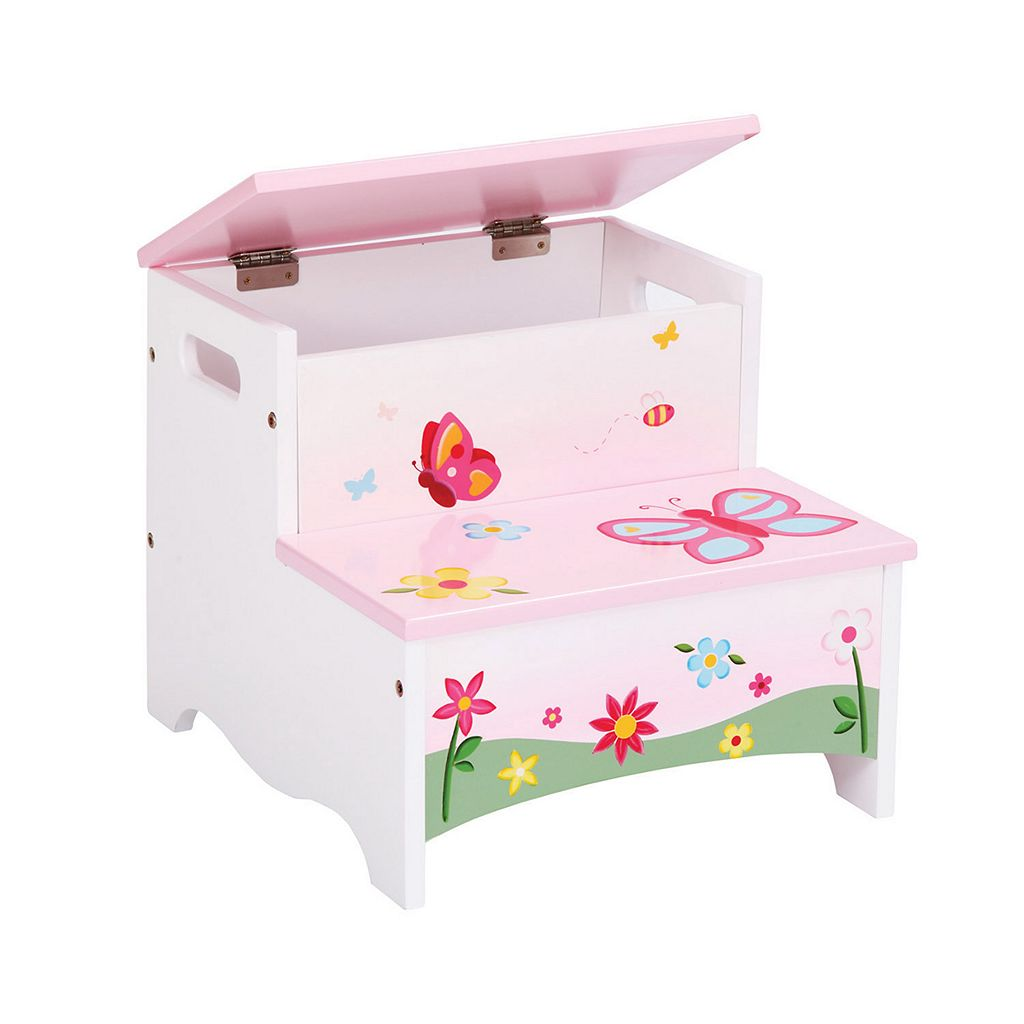 Guidecraft Butterfly Buddies Storage Step-Up Stool