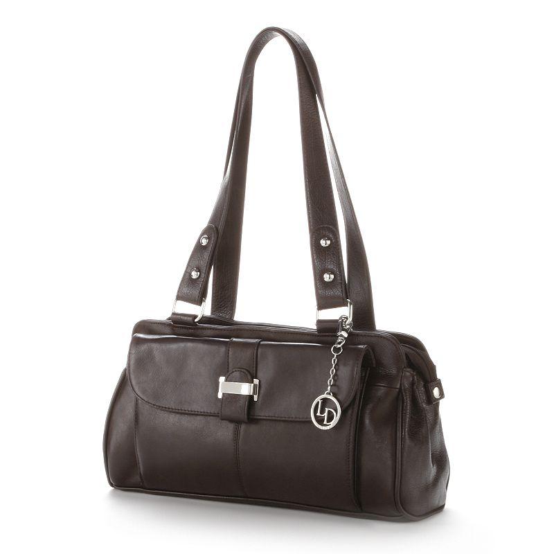 La Diva Buckle Leather Handbag