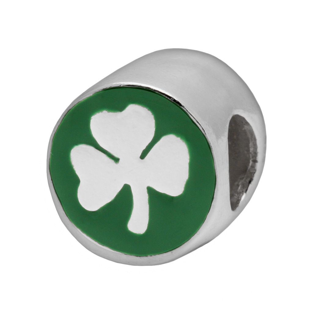 Individuality Beads Sterling Silver Three-Leaf Clover Bead