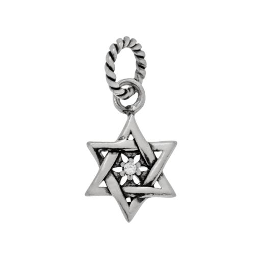 Individuality Beads Sterling Silver Cubic Zirconia Star of David Charm
