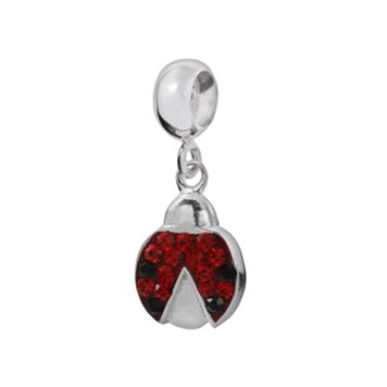 Individuality Beads Sterling Silver Crystal Ladybug Charm
