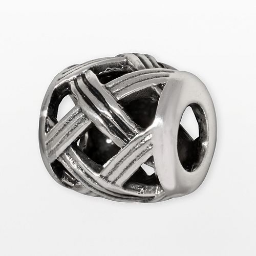 Individuality Beads Sterling Silver Basket Weave Bead
