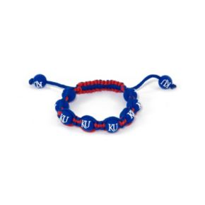 Kansas Jayhawks Bead Bracelet