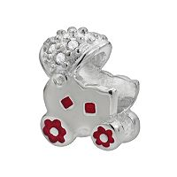 Individuality Beads Sterling Silver Crystal Baby Carriage Bead
