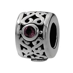 Individuality Beads Sterling Silver Crystal Filigree Spacer Bead
