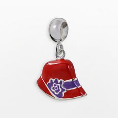 Individuality Beads Sterling Silver Red Hat Charm