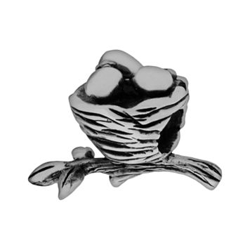 Individuality Beads Sterling Silver Bird Nest Bead