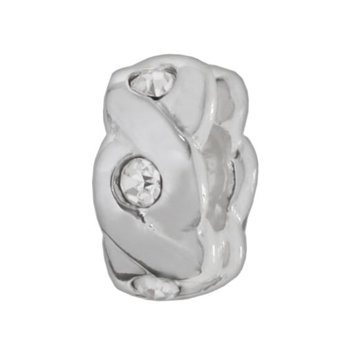 Individuality Beads Sterling Silver Crystal Braided Spacer Bead