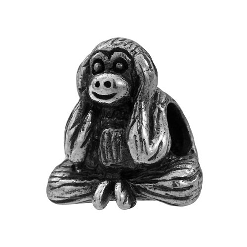 "Individuality Beads Sterling Silver ""Hear No Evil"" Monkey Bead"