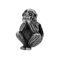 Individuality Beads Sterling Silver 'Speak No Evil' Monkey Bead