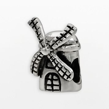 Individuality Beads Sterling Silver Windmill Bead