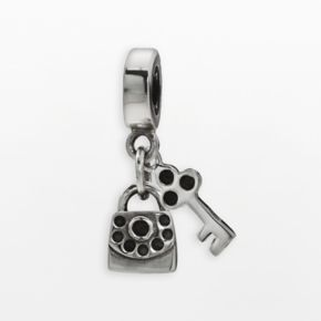 Individuality Beads Sterling Silver Handbag and Key Charm