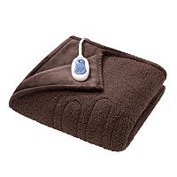 Beautyrest Oversized Microlight to Berber Heated Throw