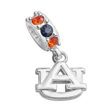 Dayna U Auburn Tigers Sterling Silver Crystal Logo Charm
