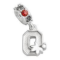 Dayna U Ohio State Buckeyes Sterling Silver Crystal Logo Charm
