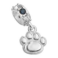 Dayna U Penn State Nittany Lions Sterling Silver Crystal Logo Charm
