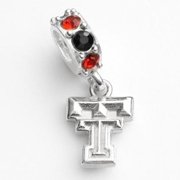 Dayna U Texas Tech Red Raiders Sterling Silver Crystal Logo Charm