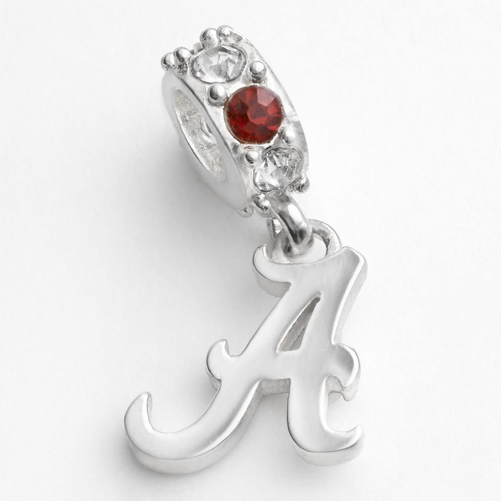 Dayna U Alabama Crimson Tide Sterling Silver Crystal Logo Charm