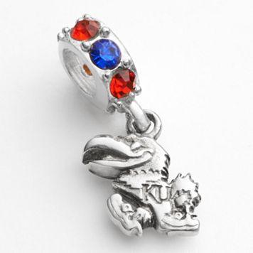 Dayna U Kansas Jayhawks Sterling Silver Crystal Logo Charm
