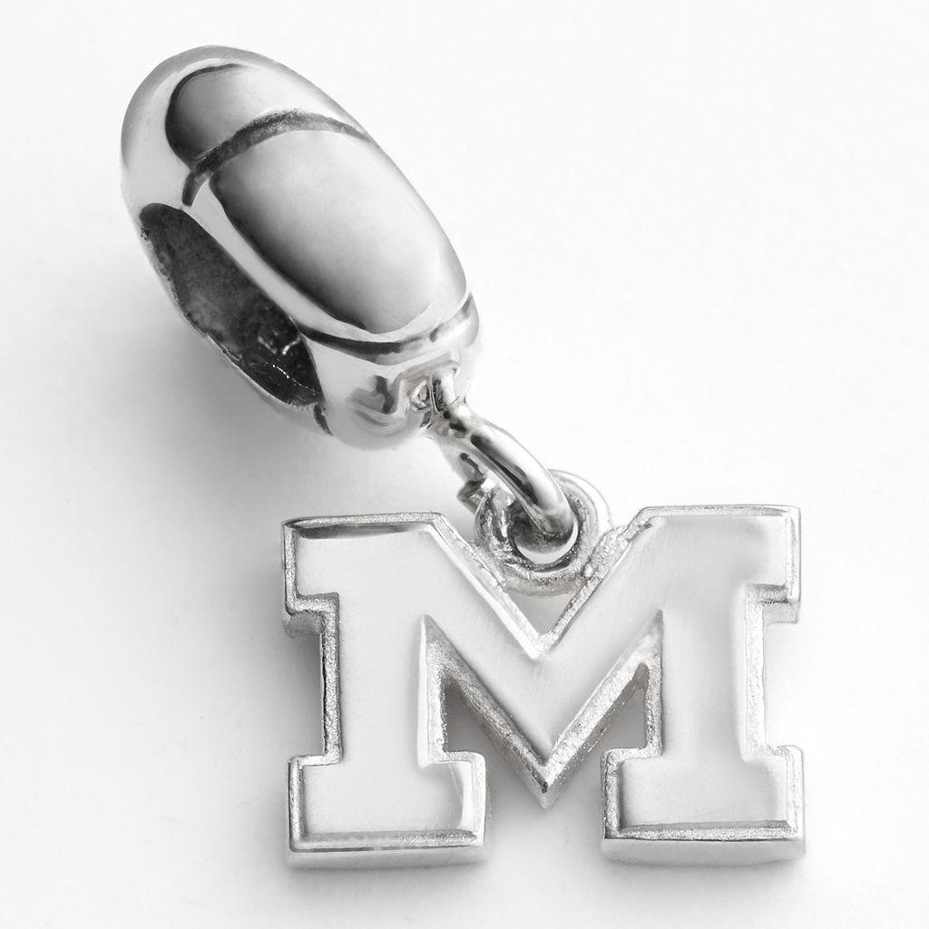 Dayna U Michigan Wolverines Sterling Silver Logo Charm