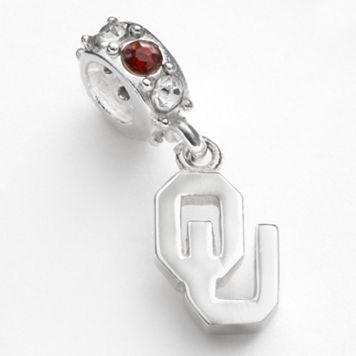 Dayna U Oklahoma Sooners Sterling Silver Crystal Logo Charm