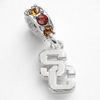 Dayna U USC Trojans Sterling Silver Crystal Logo Charm