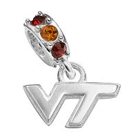 Dayna U Virginia Tech Hokies Sterling Silver Crystal Logo Charm