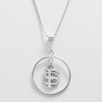 Dayna U Florida State Seminoles Sterling Silver Logo Pendant