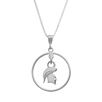 Dayna U Michigan State Spartans Sterling Silver Logo Pendant