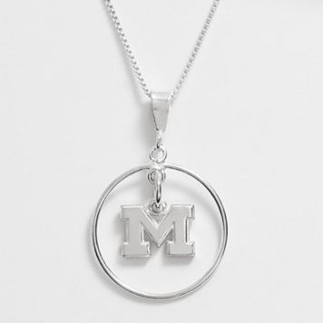 Dayna U Michigan Wolverines Sterling Silver Logo Pendant