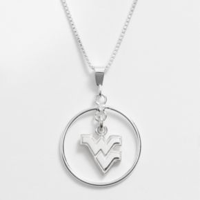 Dayna U West Virginia Mountaineers Sterling Silver Logo Pendant