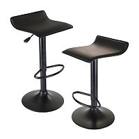 Winsome 2-pc. Obsidian Airlift Stool Set
