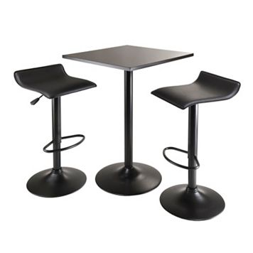 Winsome Obsidian 3-pc. Bar Table Set