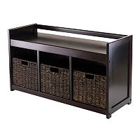 Winsome Addison 4-pc. Storage Bench & Basket Set