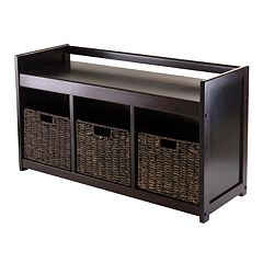 Winsome Addison 4 pc Storage Bench & Basket Set