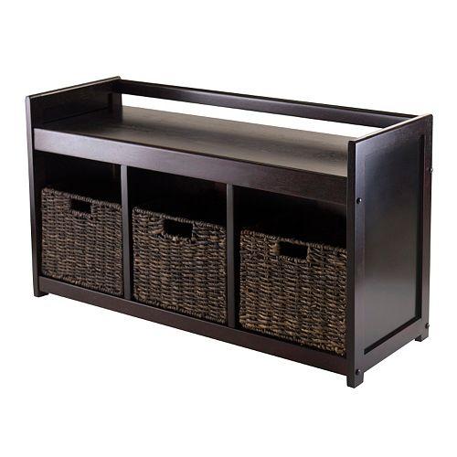 Winsome Addison 4-pc. Storage Bench & Basket Set